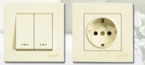 کلیدوپریزدلند - مدل آسا (کرم رنگ – کلید دوپل و پریز ارت دار)